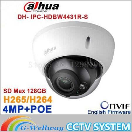 Original Dahua 4MP IPC-HDBW4431R-S replace IPC-HDBW4421R IP Camera HD Network IR cctv Dome IP CCTV Camera POE DH-IPC-HDBW4431R-S original dahua 4mp ipc hdbw4421r as ip network camera support poe