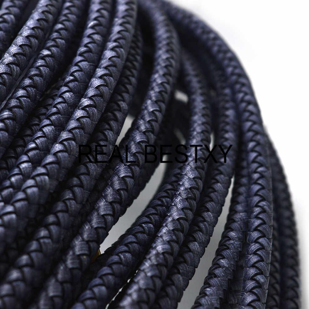 Реальный BESTXY 1 м/лот 8 мм плетеная натуральная кожа веревочный шнур для браслет ювелирные изделия ремесленничество оптом DIY находок шнурки