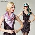 2016 Tamanho Grande 90x90 cm Lenço de Seda Quadrado Mulheres Moda Marca de Alta Qualidade Barato Imitado Cetim de Seda Lenços poliéster Xale Hijab