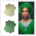 The Newest African Sego Headtie plain African sego with Beads for Party or Wedding Free Shipping HQ011
