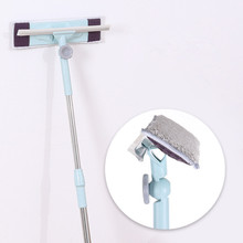 Glass Cleaner Telescopic Rod Double-sided Window Artifact Brush Scraping High-rise Cleaning Tool Home