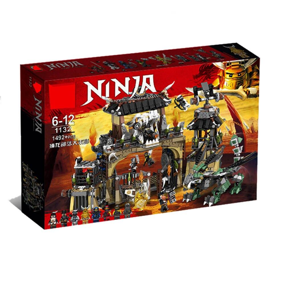 2019 maîtres de Spinjitzu Dragon Pit 70655 bloc de construction Compatible LegoING Ninjago Dragon vert Ninja bataille jouets pour les enfants