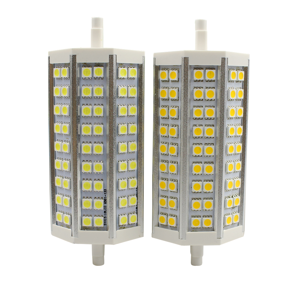 Dimmable R7S LED Lamp SMD5050 12W 138mm AC85-265V LED Light R7S LED Bulb Energy Saving Perfect Replace Halogen floodlight Lamp r7s 15w 5050 smd led white light spotlight project lamp ac 85 265v