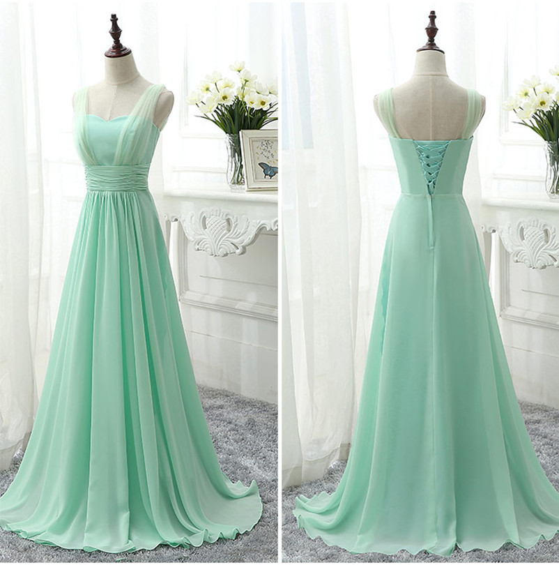 Mint Green Bridesmaid Dress Royal Blue Pink Party Dresses Chiffon Floor  Length Vestido De Festa Cheap Bridesmaid Dress Under 50-in Bridesmaid  Dresses from ... ef4222c69a07