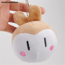 HANDANWEIRAN 1Pcs PP Cotton New Kawaii 11 CM Big Rabbit Stuffed Toys Cute Rabbit Pendants Gift Plush Toy Dolls For Kid's Party