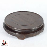 Black Catalpa Wood Annatto Handicraft Circular Base Of Real Wood Of Buddha Stone Are Recommended Vase