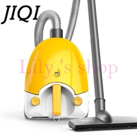 JIQI Vacuum Cleaner Handheld Electric Suction Machine Sweeper Household Powerful Carpet Bed Mites Catcher Dust Collector