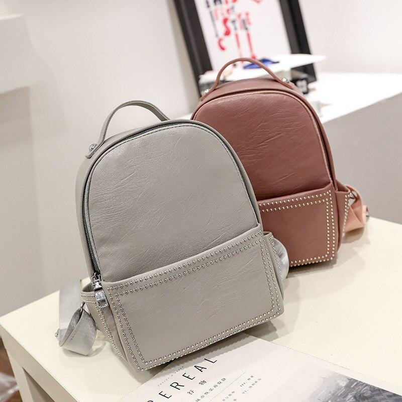ZHIERNA 2017 Korean Style Bag Designer New Rivet Teen Little ...