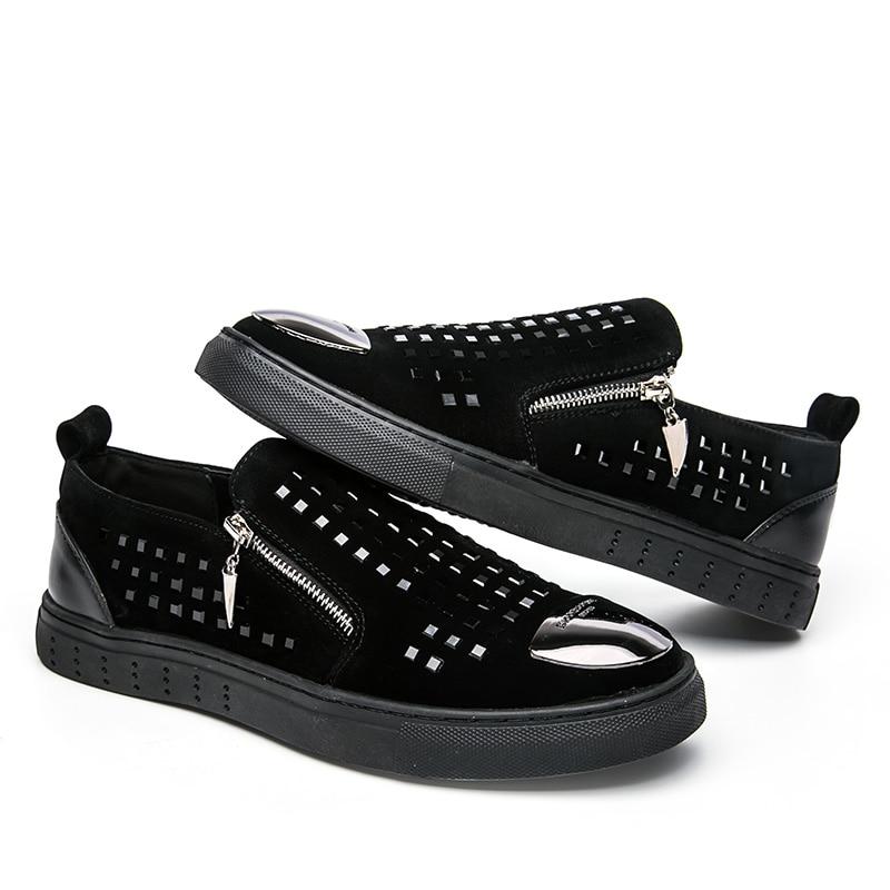 Noir Nouvelle Fu Lok Chaussures Hommes Tendance De Mode 2019 8Sdw8q