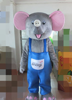 Grey Elephant Mascot Costume For Adults Christmas Halloween Outfit Fancy Dress Suit