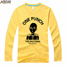 Hot-sale Japanese Anime One Punch The Bald Man Saitama T Shirts for Men and Women Funny Cartoon T-shirts Cotton Plus Size S-3XL