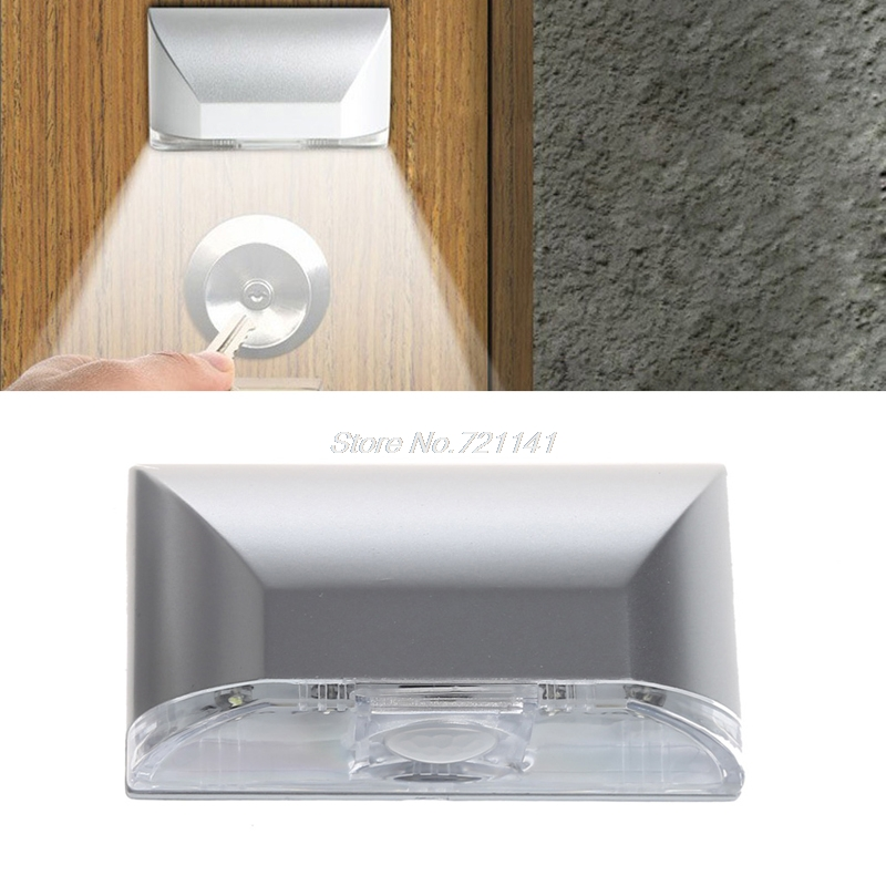 PIR Infrared IR Wireless Auto Sensor Motion Detector Keyhole Light 4 LED Lamp