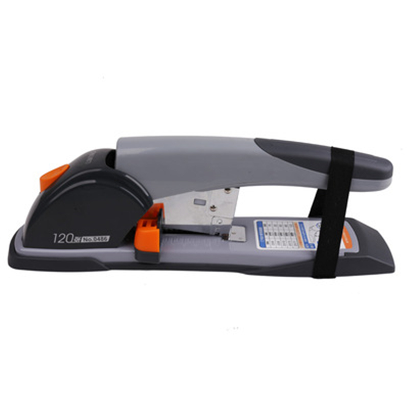 DL  0486 heavy duty heavy layer stapler (gray) large and thick printing and binding financial office supplies Stationery deli manual heavy duty stapler 50 pages thick repair book make book staplers school office binding machine supplies dropshipping