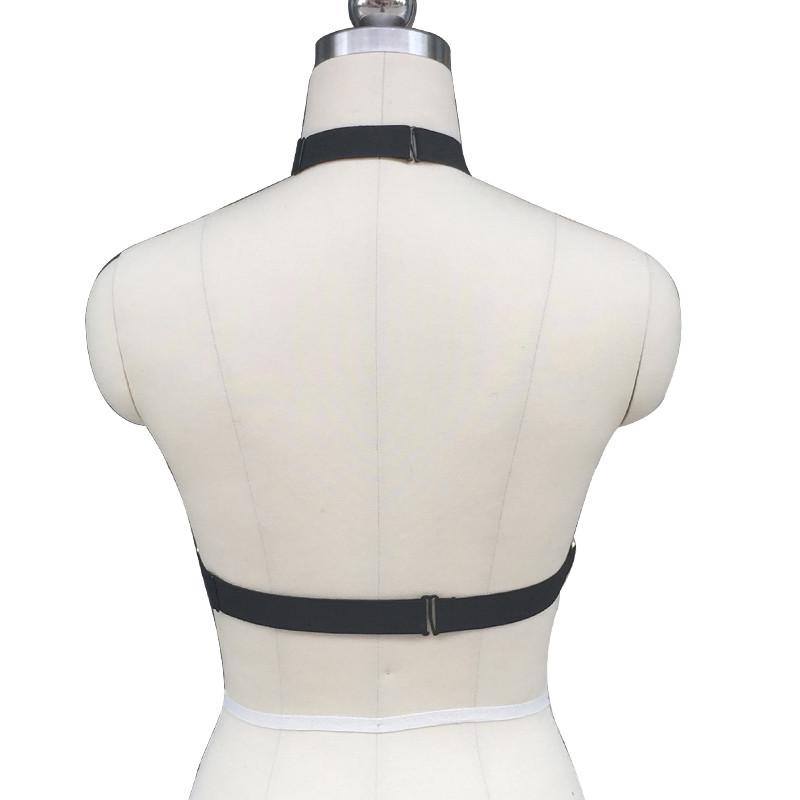 HTB1qVoQKXXXXXafXFXXq6xXFXXX1 Black Halter-Style Goth Elastic Lingerie Body Harness Cupless Bra