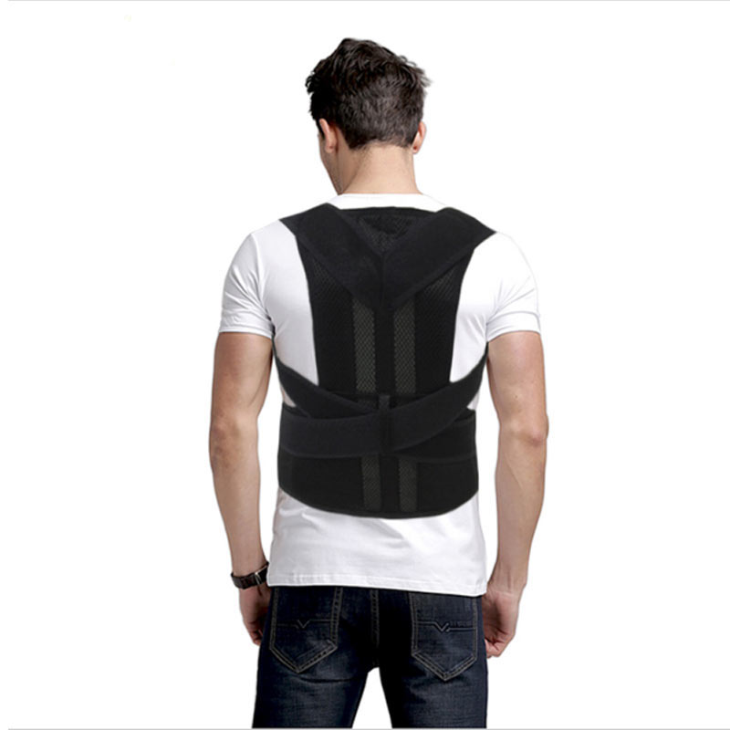 AOFEITE Scoliosis Posture Corrector Lumbar Support Belt Around Shoulder Back Brace Corset for Back Pain Bdsm Bondage Men Women