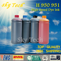 1L 4 Quality Dye Refill Ink Suit For Hp 950 951 Cartridge Refill Ink Suit For