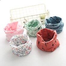 Здоровые хлопковые детские шарфы для храпа, Kawaii, мультяшный снуд для детей, цветочный шарф для малышей, кольцо для мальчиков, маленькие шарфы для девушек