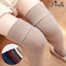 thickness women high quality needle cotton knee high long high tube sexy thigh stockings pantyhose hosiery winter/autumn