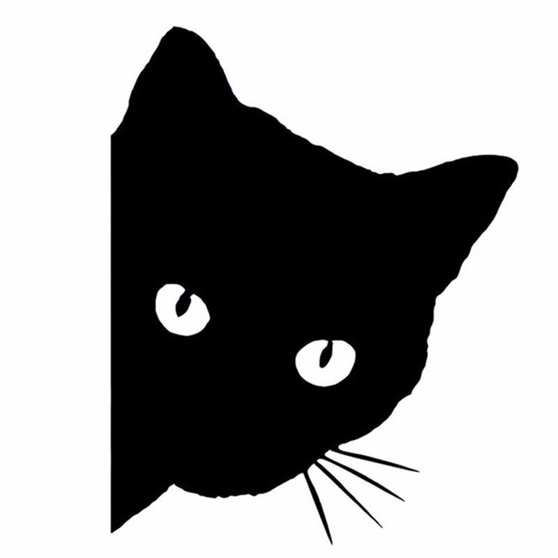 12*15CM CAT FACE PEERING Car Sticker Decals Pet Cat Motorcycle Decorative Stickers Car Window Decals C2-0089 9