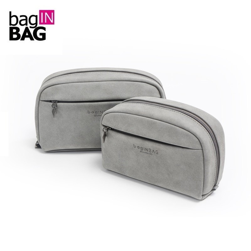 Grey Cosmetic Bag Small Makeup Bags Soft Portable Storage bag (20*12*5cm and 16*11*4.8cm) spark storage bag portable carrying case storage box for spark drone accessories can put remote control battery and other parts