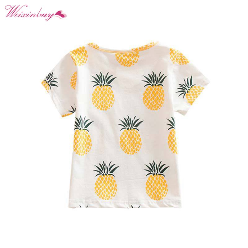Back To Search Resultsmother & Kids Fashion Baby Children Girls Kids T Shirt Cotton Pineapple Print One-pieces Casual Dress T-shirt Kids Clothes S72 Easy To Lubricate