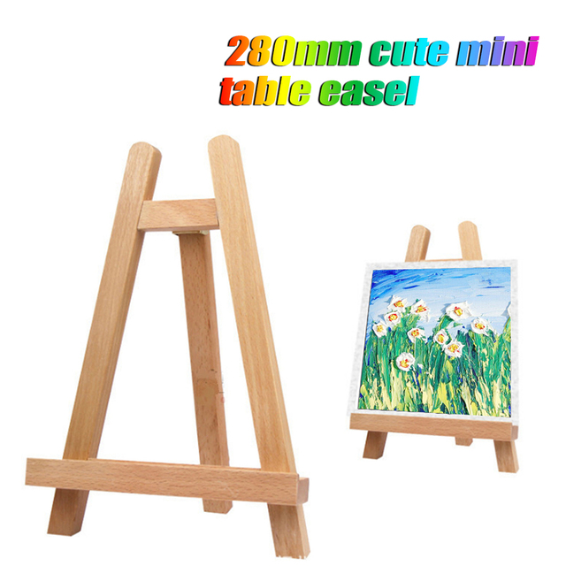 mini display easel small tabletop mini wood artist frame photo