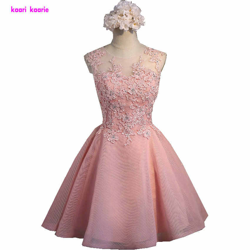 ad538864f74 Abiye настоящая фотография жемчужно-розовые платья для выпускного вечера  2018 недорогие с круглым вырезом без