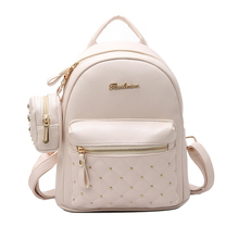 2017 Summer New Vintage Retro Lady PU Leather Bag Small Women Mini Backpack Mochila Feminina School Bags for Teenagers Bolsa