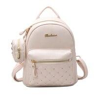 2017 Summer New Vintage Retro Lady PU Leather Bag Small Women Mini Backpack Mochila Feminina School