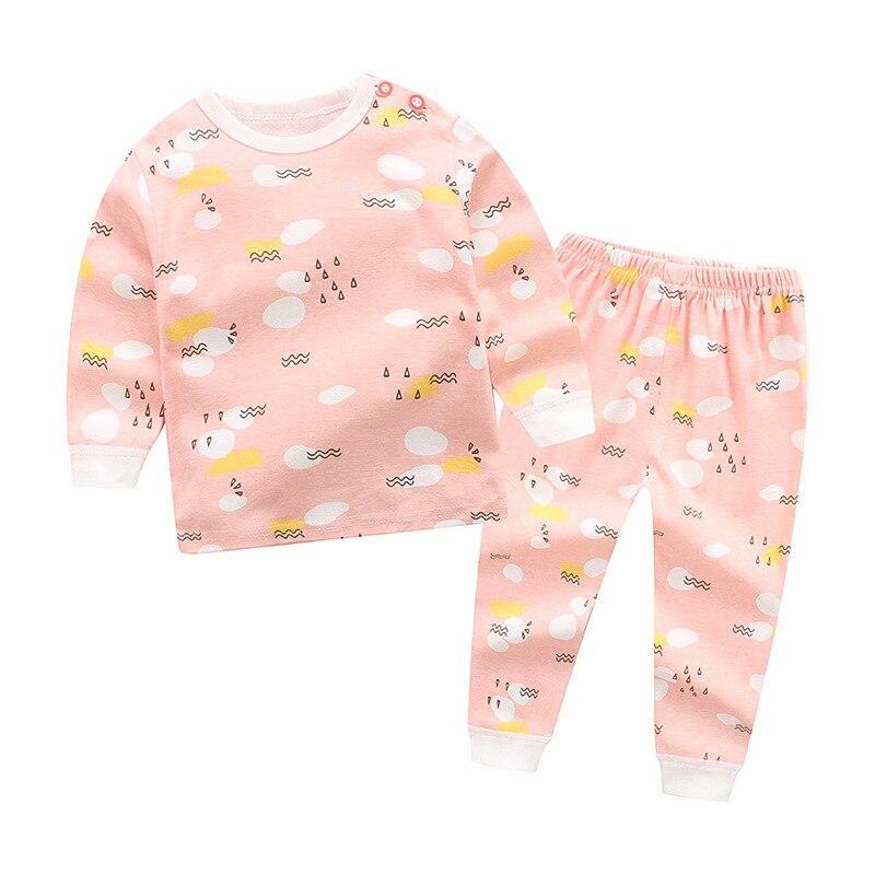 2018 Mode Mädchen Pyjamas Set Baby Nachtwäsche Kinder Homewear Kleinkind Bebes Unterwäsche 2 Teile/los Langarm Baumwolle Kinder Kleidung Kann Wiederholt Umgeformt Werden.