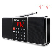 Lefon Digital Radio AM/FM Dual Bluetooth Speakers Handsfree Call 3.5mm AUX Line in MP3 Player TF/SD Card LED Display Screen