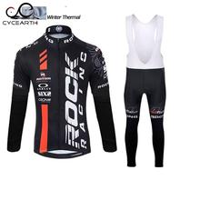 Rock Racing 2015 Pro cycling jersey winter thermal fleece ropa ciclismo invierno bike men cycling clothing bicycle Clothes