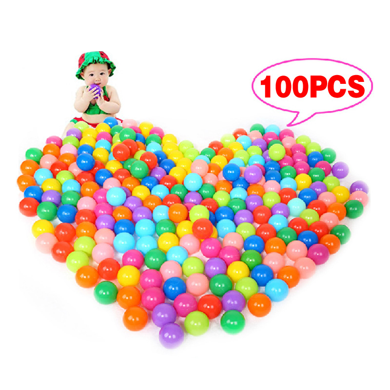 100pcs Colorful Ball Soft Plastic Ocean Ball Funny Baby Kid Swim Pit Toy Water Pool Ocean Wave Ball for Children Dia 5.5cm YH-17