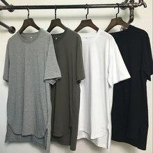 Удлиненная уличная футболка в стиле хип-хоп,, модные брендовые футболки, мужские летние футболки с коротким рукавом, футболки больших размеров для мужчин/женщин