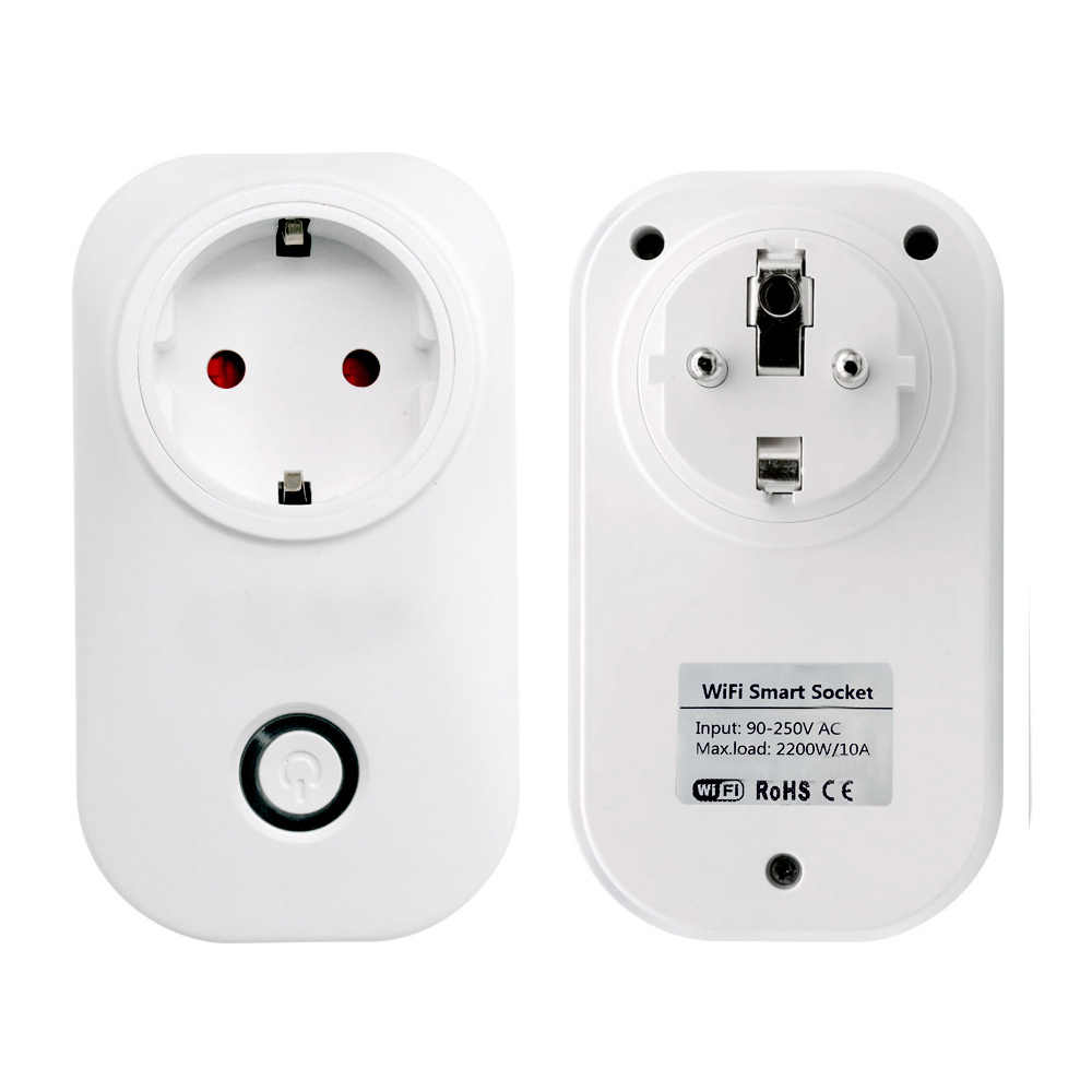 S20 Mini SA-014 Wifi Power Socket Switch Wireless APP Remote Socket Outlet Timing Switch for Smart Home Work with Alexa