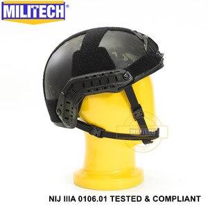 Image 4 - ISO מוסמך 2019 חדש MILITECH מרובה שחור IIIA 3A מהיר גבוהה XP לחתוך Bulletproof ארמיד בליסטי קסדה עם 5 Yrs אחריות