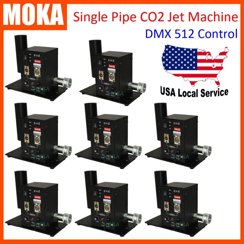 MOKA cheap price 8Pcs/Lot Special Stage FX CO2 Jet Machine single tube Stage Cryo CO2 Cannon Jet Machine mini CO2 effects