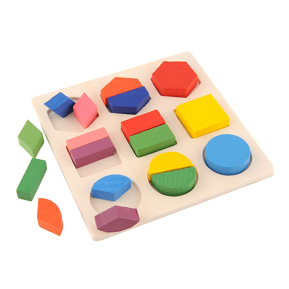 Baby Wooden Building Block Montessori Early Educational Toys Intellectual Geometry Toy 6