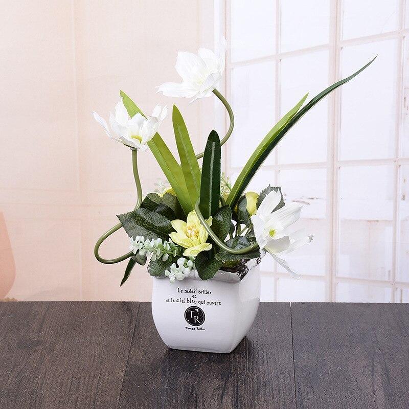 Aktualne 2017 hot sprzedaży biała róża kwiaty sztuczne kwiat festival DZ36