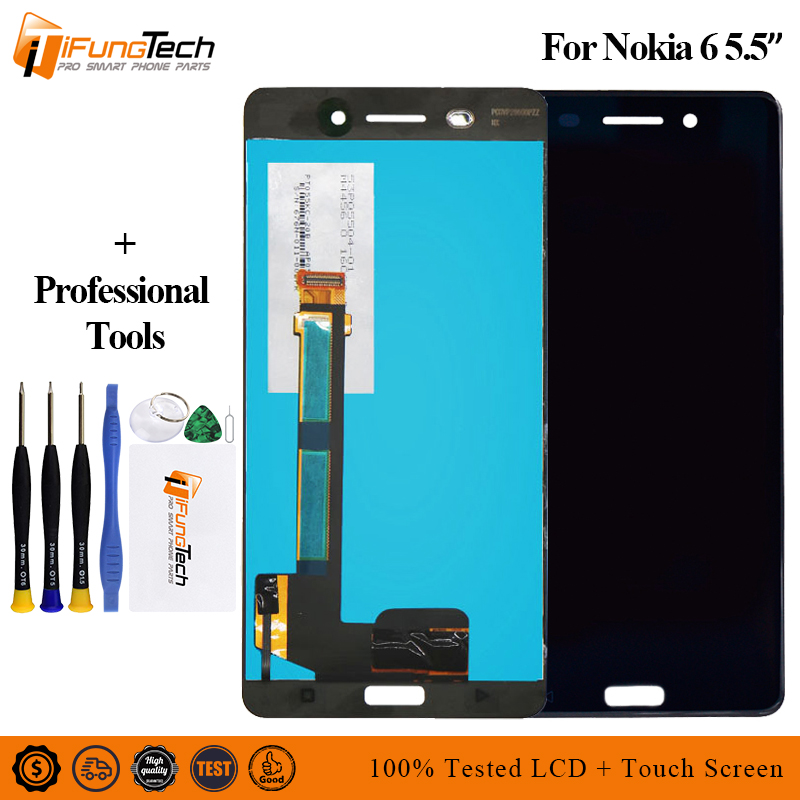 5.5 For Nokia 6 LCD TA-1021 TA-1033 TA-1025 Display And Touch Screen Screen Digitizer Assembly Replacemen +Tools5.5 For Nokia 6 LCD TA-1021 TA-1033 TA-1025 Display And Touch Screen Screen Digitizer Assembly Replacemen +Tools