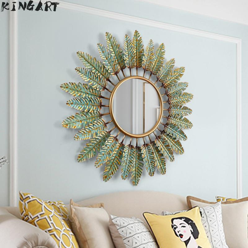 Antique Big Wall Mirror With Frame Metal Round Wall Mirror