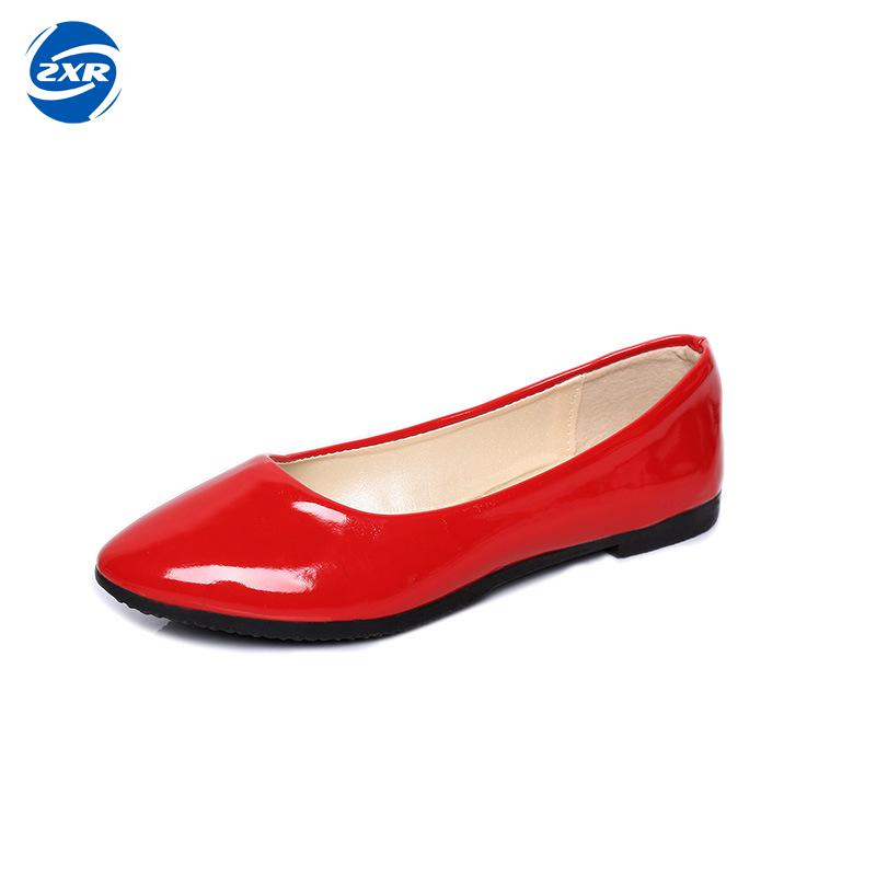 Candy Color Loafers Summer Ladies Flat Shoes Patent Leather Women Flats Comfortable Slip On Shoes Woman Plus Size 42 slip on shoes loafers girl ballet flats women flat shoes soft comfortable shoes woman plus size 33 40 41 42 43 44 45 46 47