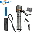 zk30 Self Defense LED flashlight Cree XM-L T6 led Rechargeable lantern 4000LM Tactical Torch lamps with attack head flashlights