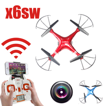 Nuevo Llega X6sw WIFI Fpv Cámara Juguetes rc helicóptero drone quadcopter drones con cámara HD gopro profesional VS Drone