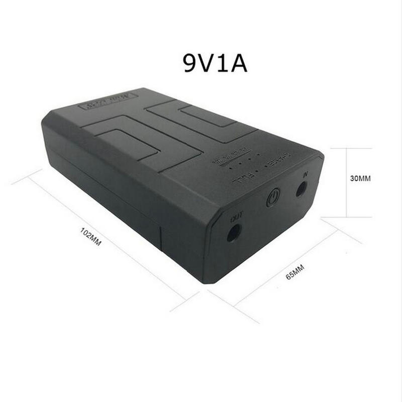 9V1A AC to DC Mini Adapter Uninterrupted Power Supply UPS Provide Emergency Power Backup to CCTV Camera with Battery Built-in