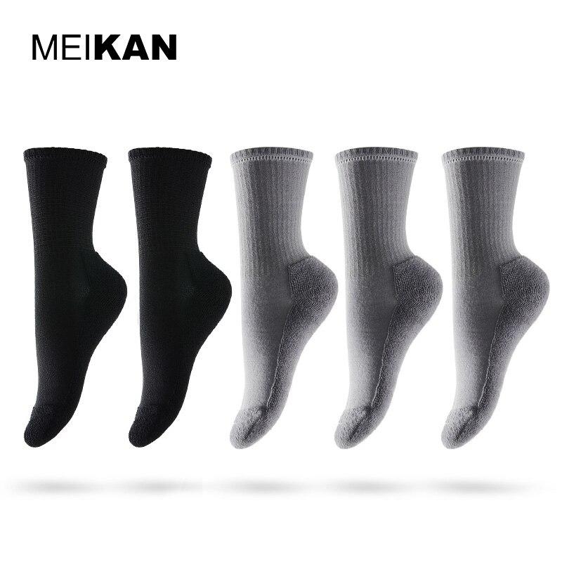 Women Terry Socks Winter Cotton Colorful Ankle Sport Socks Thermal Compression Bike Socks MEIKAN Female Meias