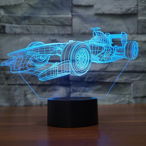 Крутой автомобиль Форма 3D Светодиодные ночники USB сенсорный выключатель 7 видов цветов Изменение Детская комната декоративного освещения б...
