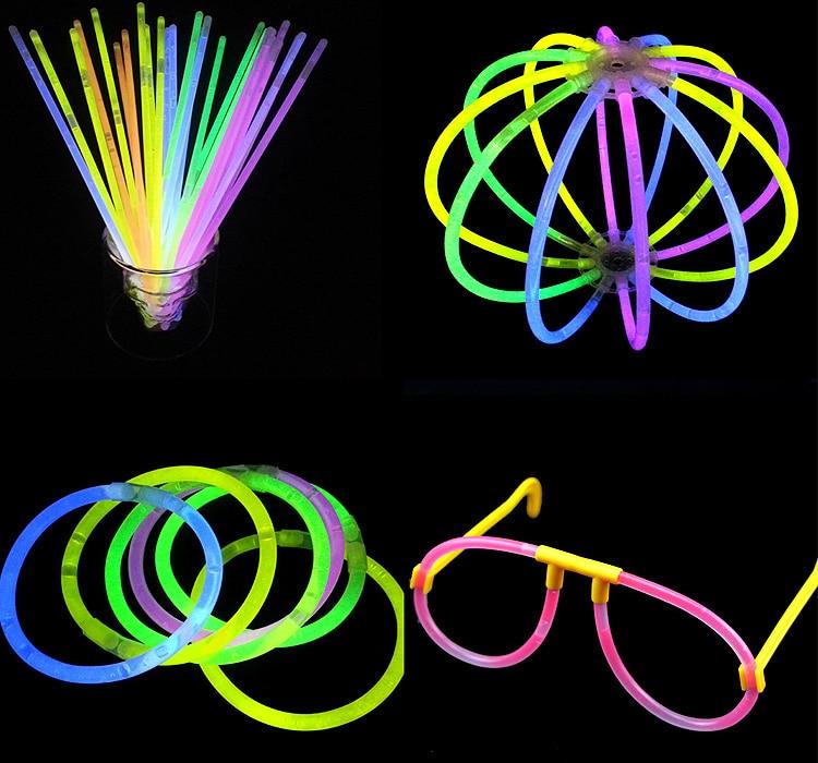 100pcs High Quality Multi Color Glow Stick Bracelets Glowsticks Light Stick Flashing Led Toys Xmas Christmas Party Supplies