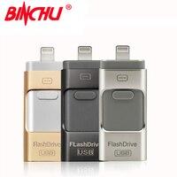 BINCHสำหรับIOS USBแฟลชไดรฟ์สำหรับiphone Usb otg 8กิกะไบต์ไดรฟ์ปากกา32กิกะไบต์UsbติดpendriveสำหรับiPhone 7 6 5 5วินาทีสายฟ้...