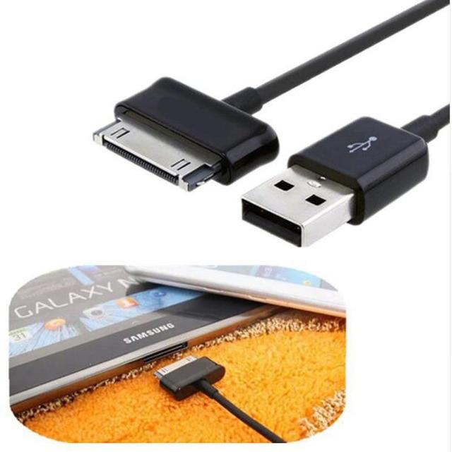 Cargador USB Cable de datos de carga de Cable para Samsung galaxy tab 2 3 Nota P1000 P3100 P3110 P5100 P5110 P7300 P7310 P7500 P7510 N8000